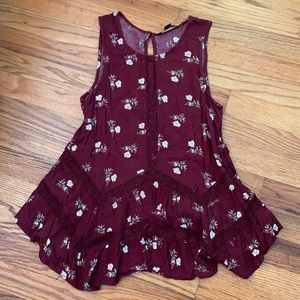 American Eagle Outfitters Floral Peplum top